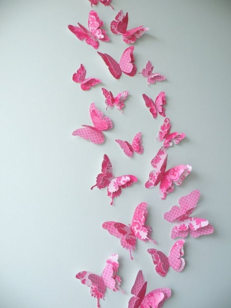 3D Butterfly Wall Art With Newest How To Decorate Walls With Art 3D Butterfly Wall Decor (View 3 of 15)