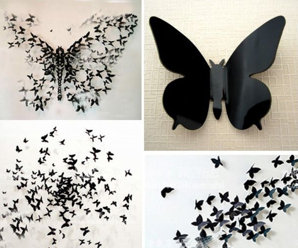 3D Butterfly Wall Art With Recent Butterflies Wall Decorations 3D Butterfly Wall Stickers Wall (Gallery 13 of 15)