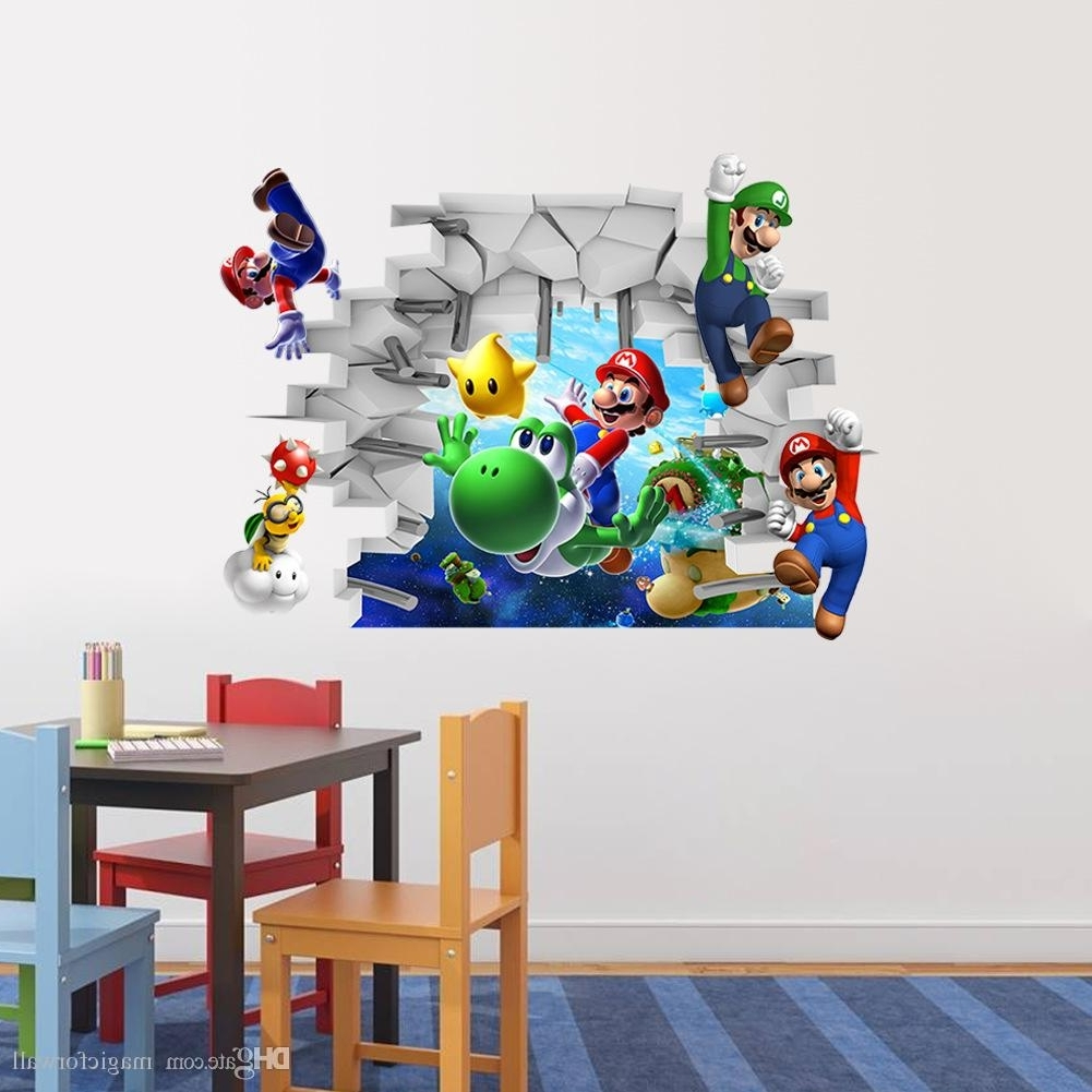 3D Cartoon Wall Art Mural Decor Sticker Kids Room Nursery Wall Inside Newest Animals 3D Wall Art (View 1 of 15)