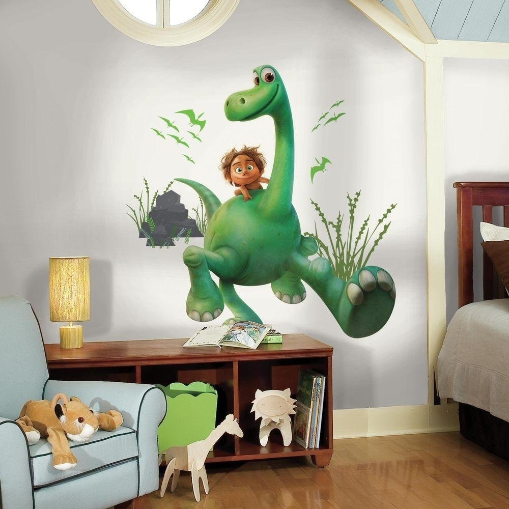 3D Dinosaur Wall Decals Bedroom Stickers Beetling Design Boys With Most Up To Date Beetling Brachiosaurus Dinosaur 3D Wall Art (View 2 of 10)