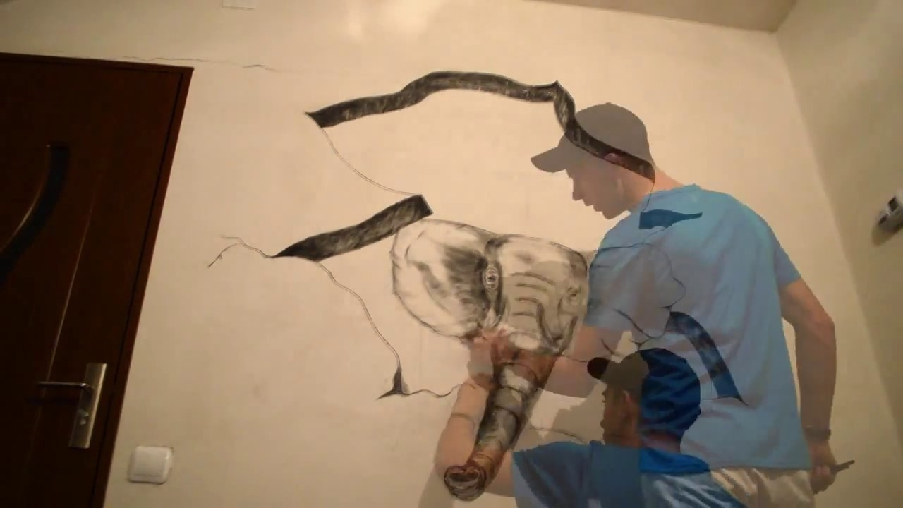 3D Drawing On Wall – Youtube Regarding Trendy 3D Artwork On Wall (Gallery 5 of 15)