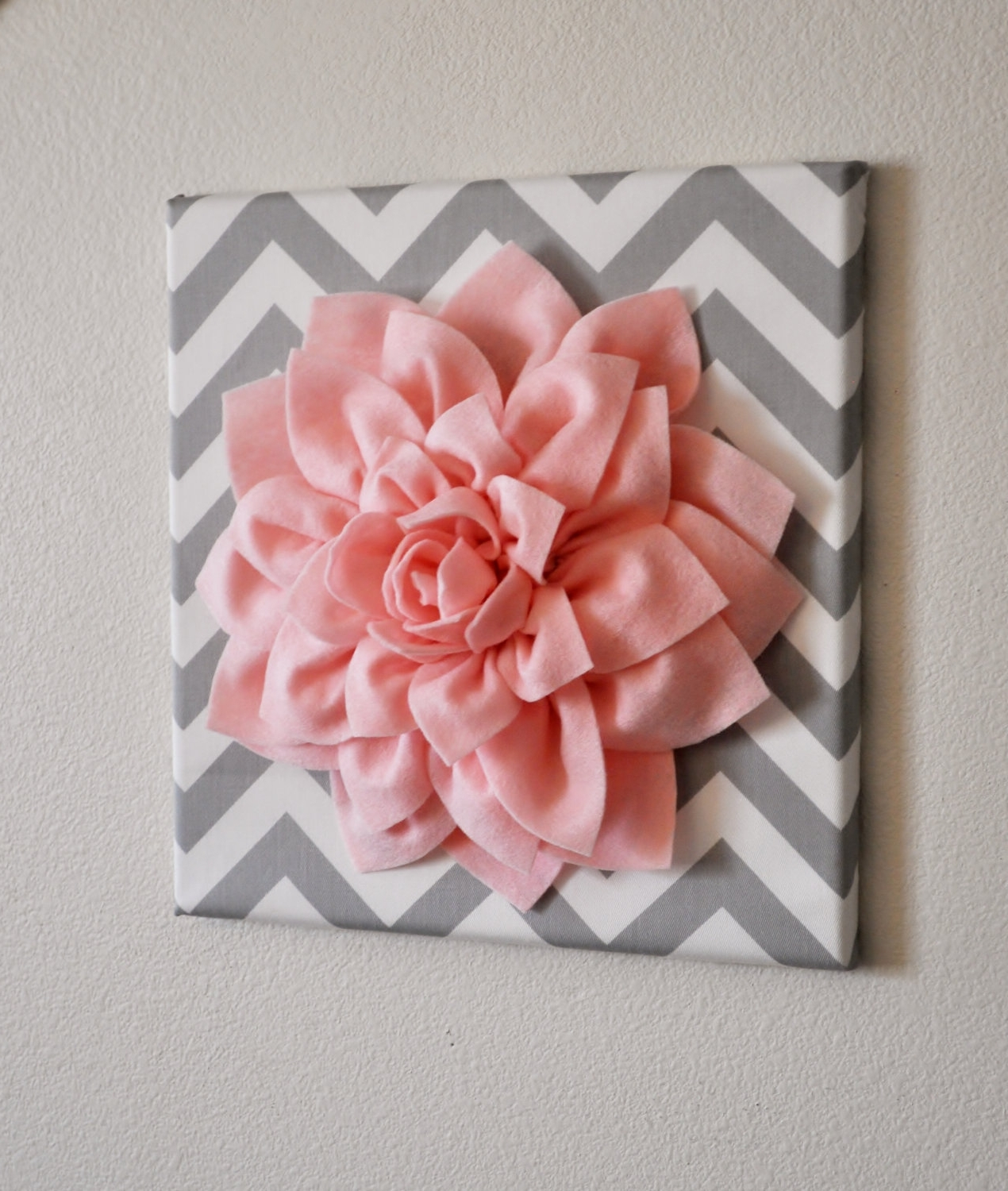 3D Flower Wall Art Regarding Well Known 3D Flower On Canvas. This Is Such A Good Idea. I'm Doing This (Gallery 11 of 15)