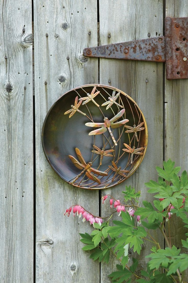 3D Garden Wall Art Within Most Popular 3D Wall Art: Metal Dragonfly Wall Art – Outdoor Metal Wall Art (Gallery 2 of 15)