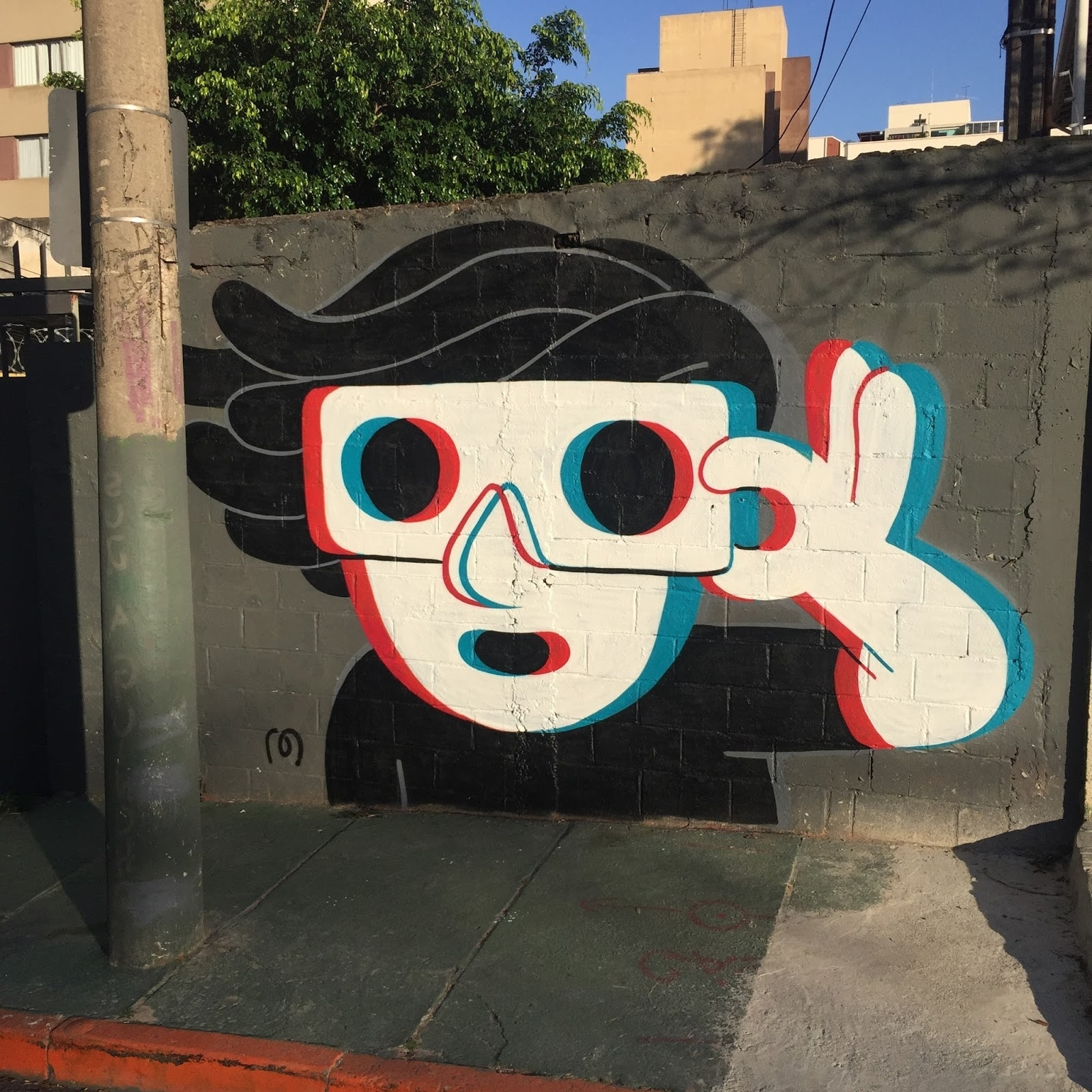 "3D Glass Wall Art With Regard To Trendy Muretz Creates ""3D Glasses"", A New Piece In Sao Paulo, Brazil (Gallery 6 of 15)"