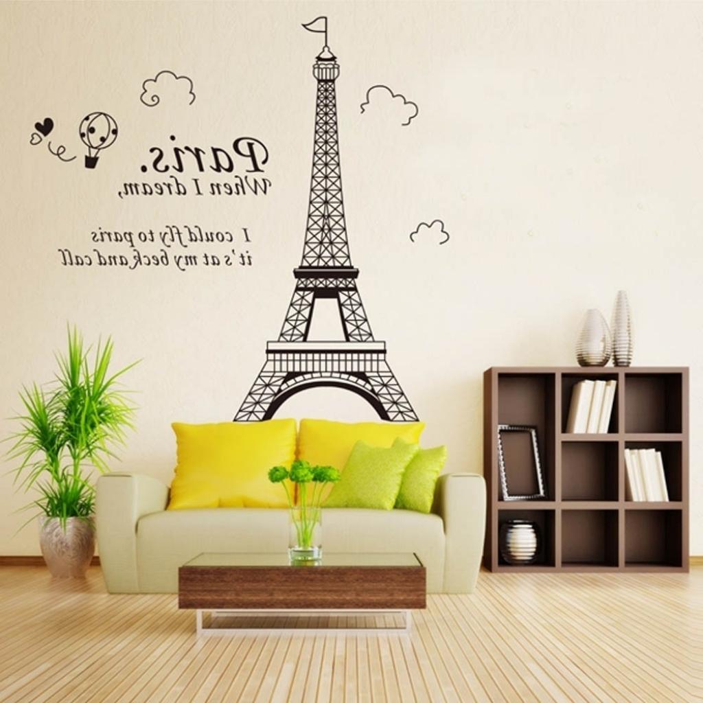 3D Paris Eiffel Tower Diy Removable Wall Sticker Vinyl Art Decal For 2018 Paris Vinyl Wall Art (Gallery 14 of 15)