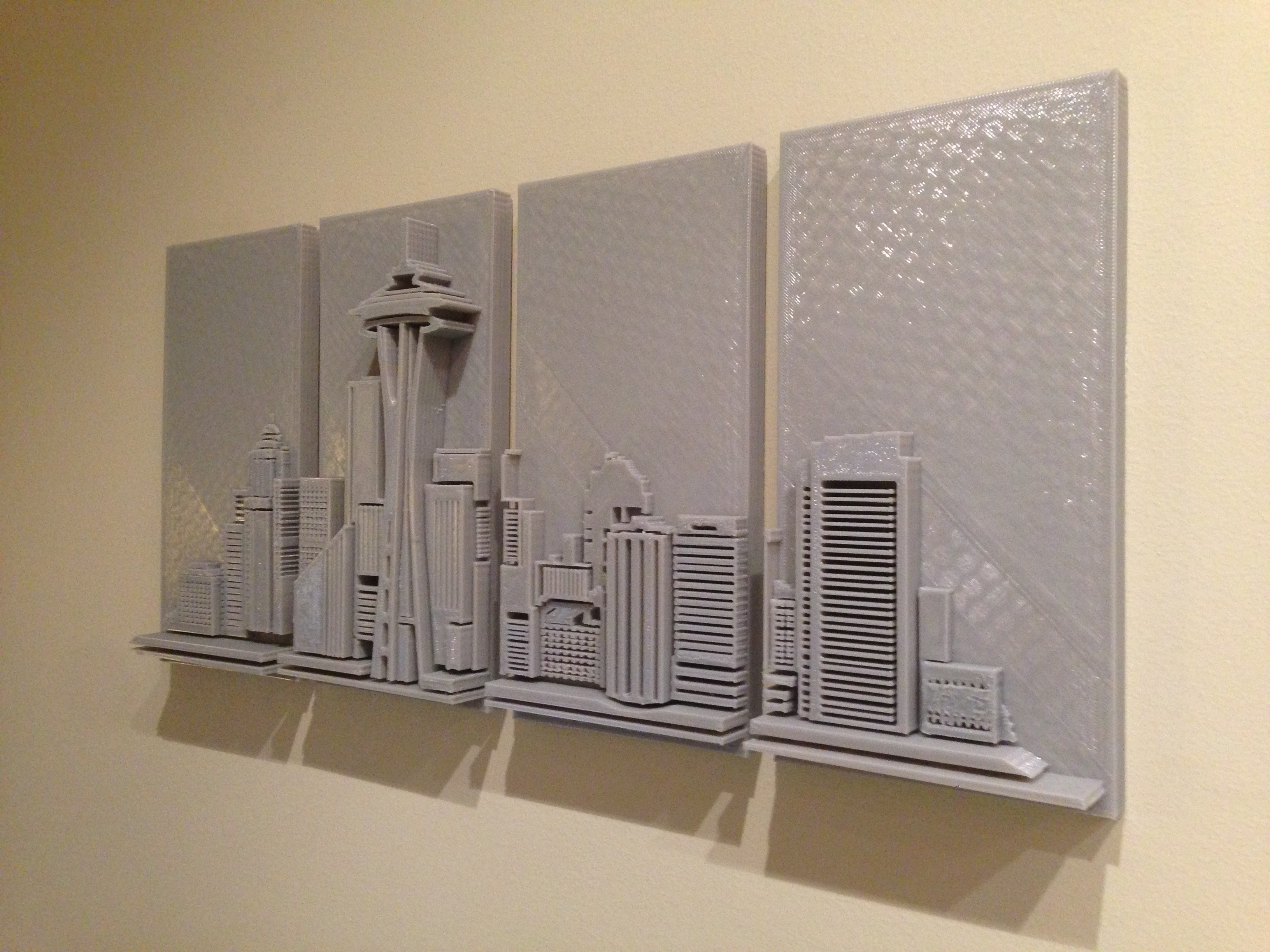3D Printed Wall Art With Regard To Current 3D Printed Seattle Skyline – Wall Art – Imgur (Gallery 1 of 15)