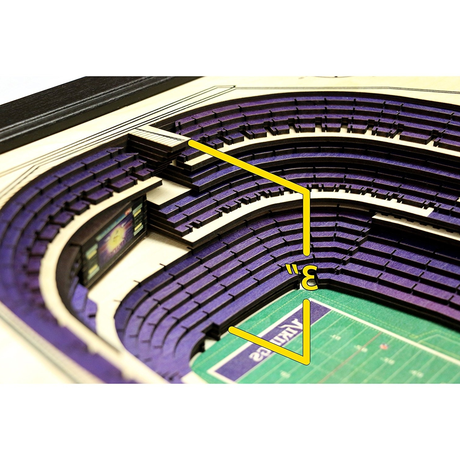 3D Stadium View Wall Art With Regard To Popular Amazon: Sportula Products 9026136 Stadiumviews Minnesota (View 3 of 15)