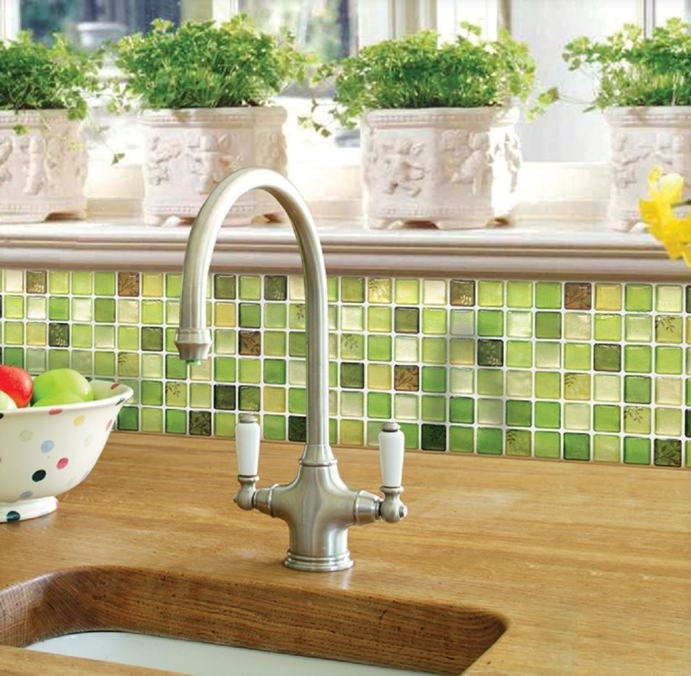 3D Wall Art For Kitchen Throughout Famous Home Bathroom Kitchen Wall Decor Stickers Peel And Stick Tile (View 2 of 15)