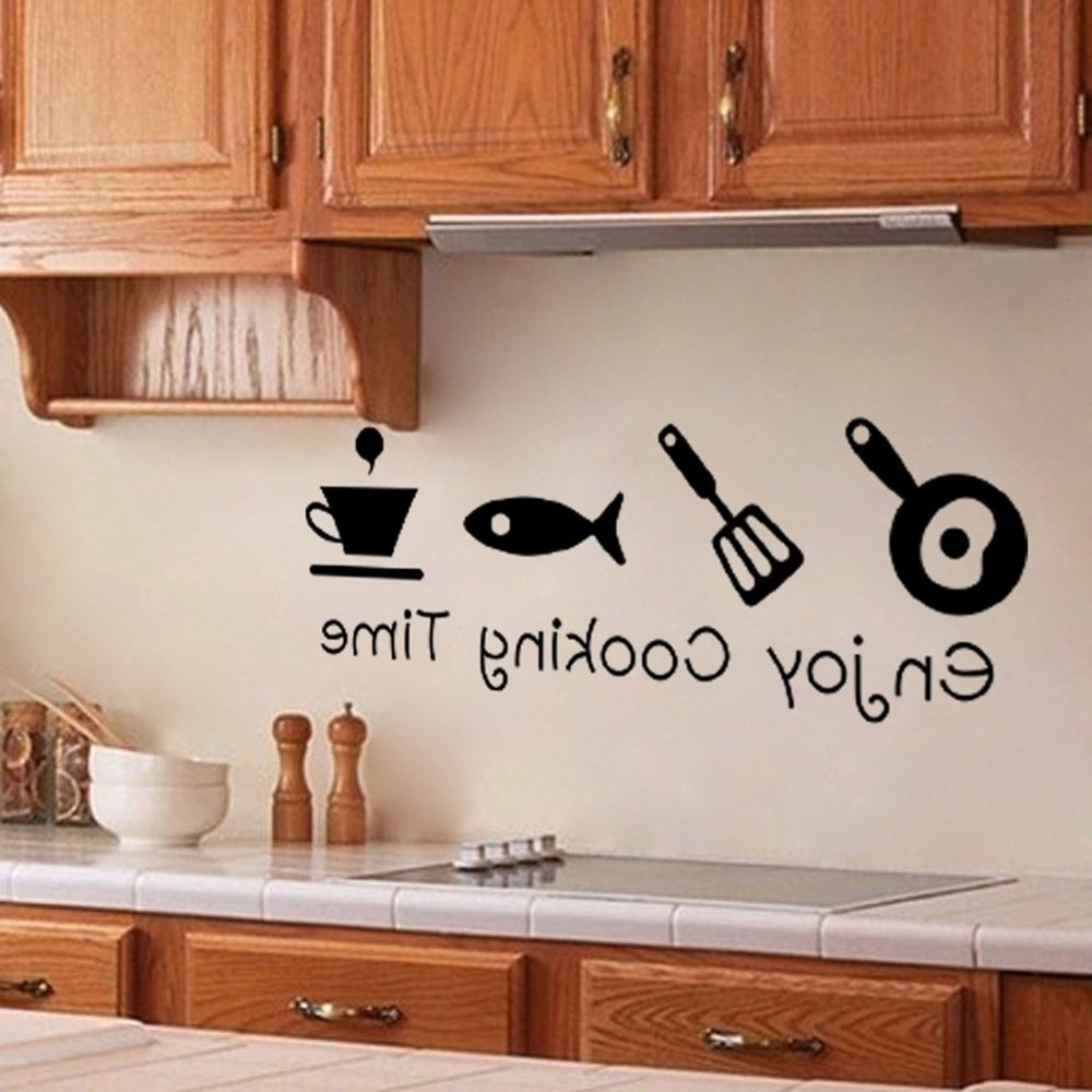 3D Wall Art For Kitchen With Newest Fashion Design Creative Diy Wall Stickers Kitchen Decal Home Decor (Gallery 14 of 15)