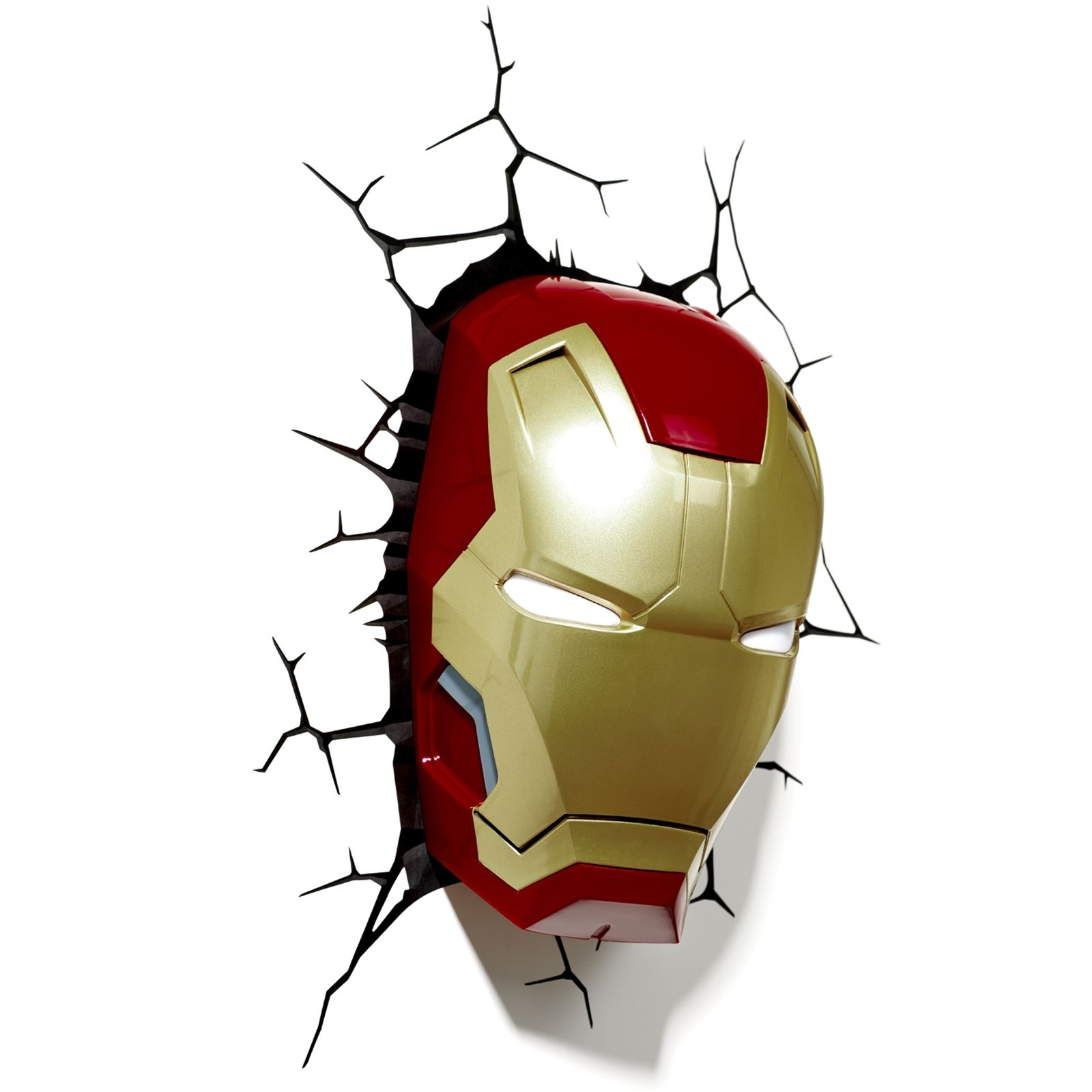3D Wall Art Iron Man Night Light Inside Fashionable Marvel Avengers 3D Wall Light – Hulk, Iron Man, Captain America (View 4 of 15)