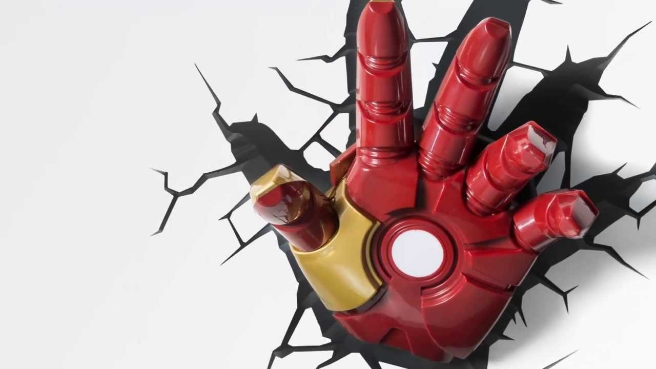 3D Wall Art Iron Man Night Light Within Favorite Iron Man Glove Clipart – Clipground (View 6 of 15)