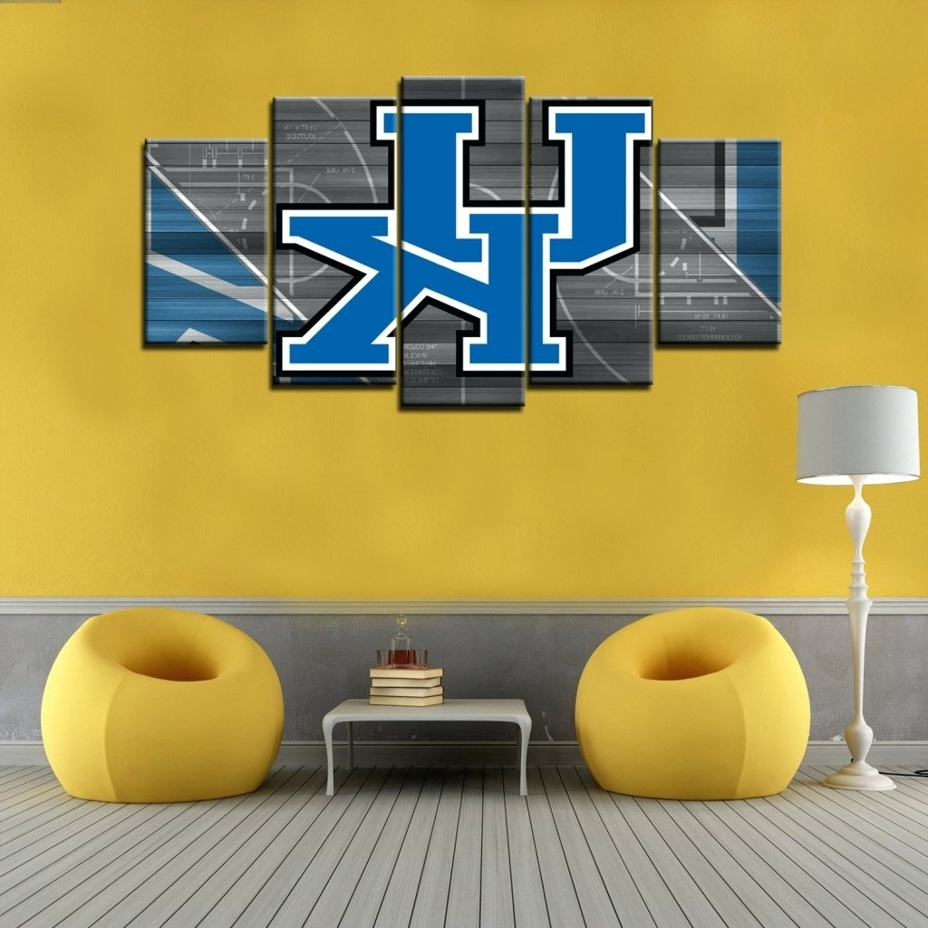 3D Wall Art Night Light Australia Within Most Recent Wall Arts ~ Kentucky Wildcats 5 Piece Canvas Wall Art Hd Quality (Gallery 10 of 15)