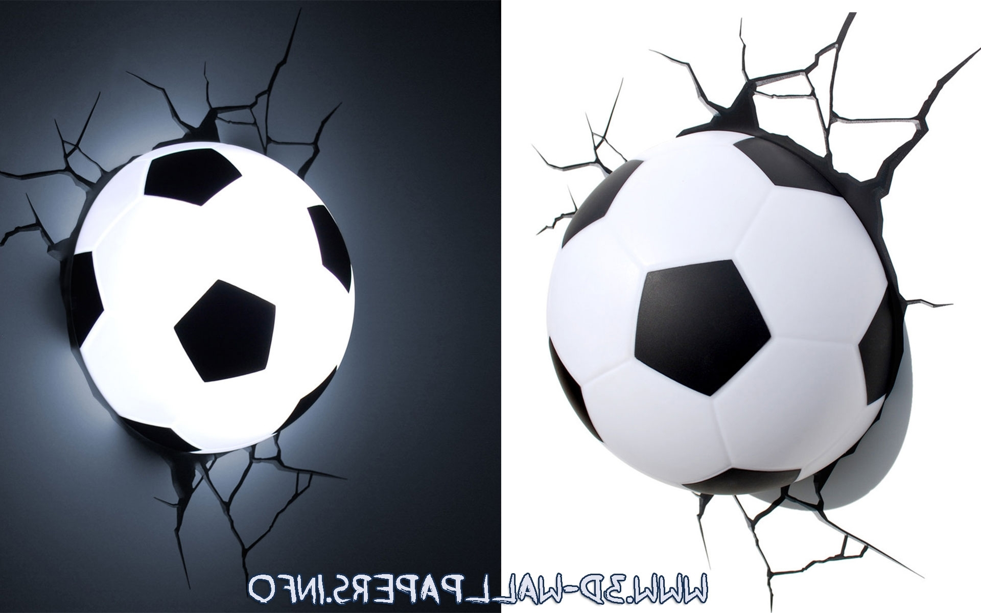 3D Wall Art Night Light Soccer Ball – Sports 3D Wall Nightlight In Most Up To Date Football 3D Wall Art (View 4 of 15)