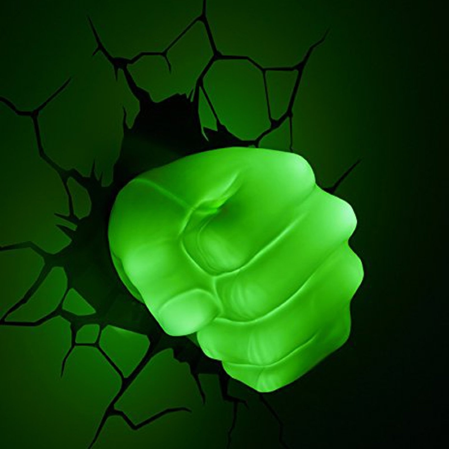 3D Wall Art Nightlight Throughout Fashionable The Avengers 3D Wall Art Nightlight – Hulk Hand (View 1 of 15)