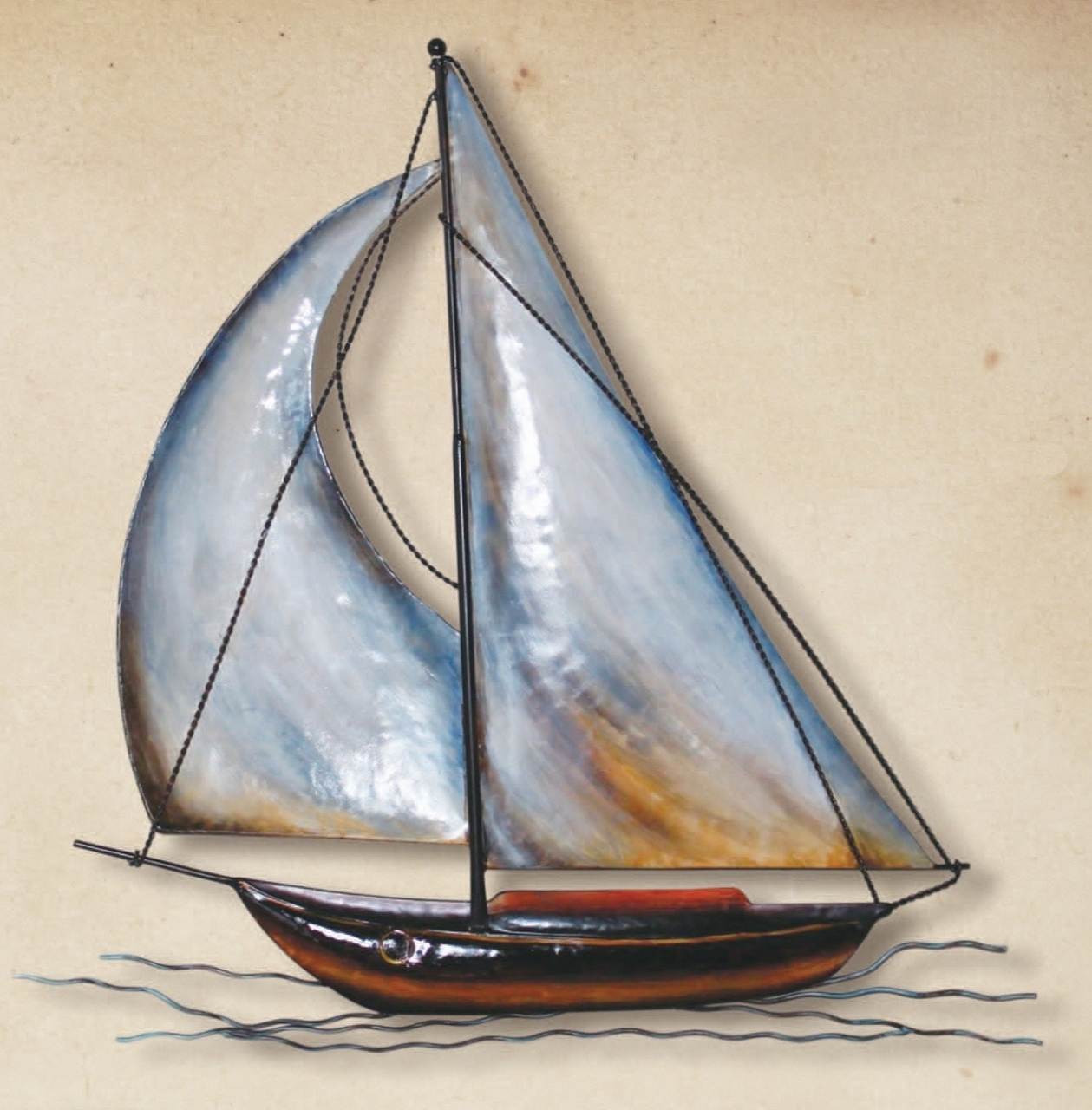 3d Wall Art, Wall Sculptures And Walls Intended For Metal Sailboat Wall Art (View 7 of 15)