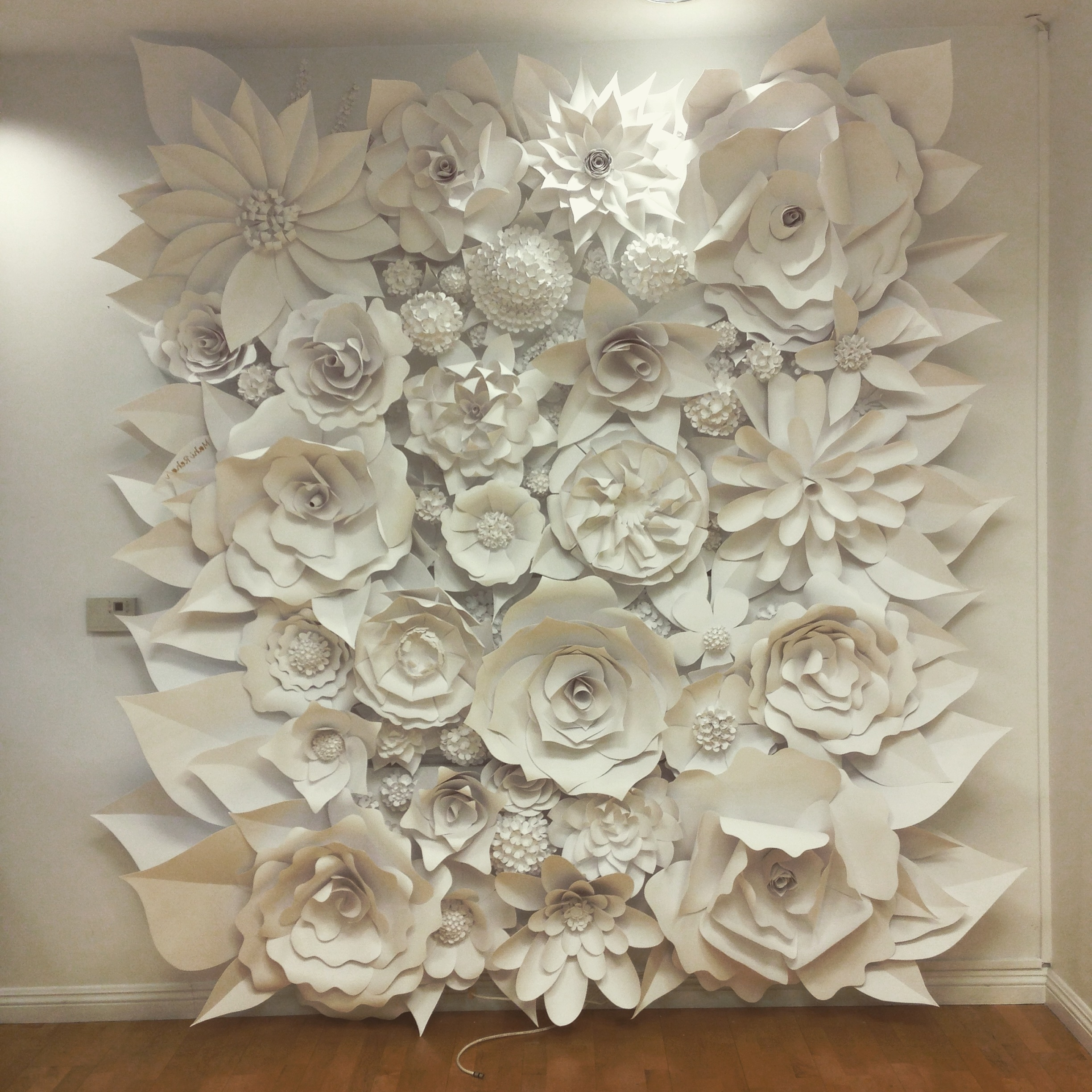 3D Wall Art With Paper Intended For 2018 Diy 3D Flower Canvas Wall Art Diy  Mothers