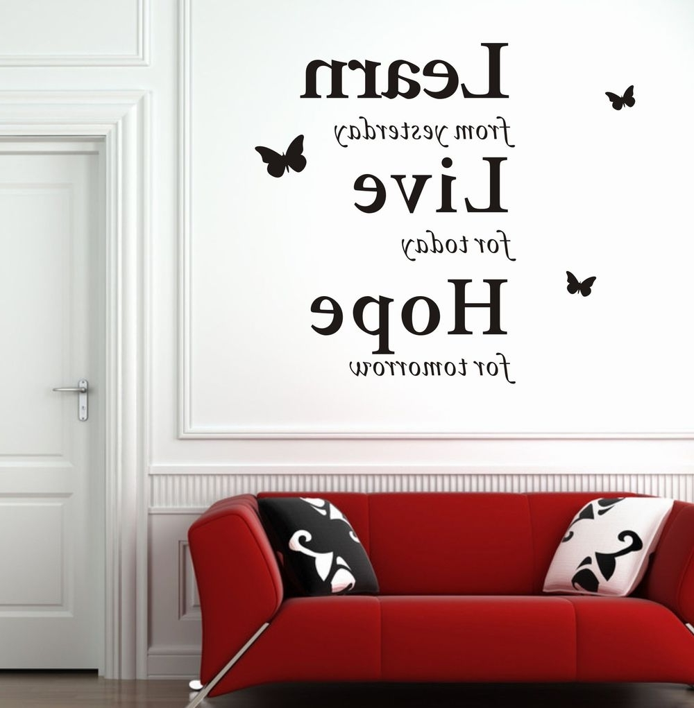 3D Wall Art Words Intended For Most Up To Date Modern Wall Decor (View 3 of 15)