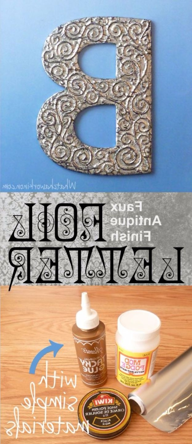 3D Wall Art Words With Regard To Widely Used 50 Cool And Crafty Diy Letter And Word Signs – Diy Joy (View 6 of 15)