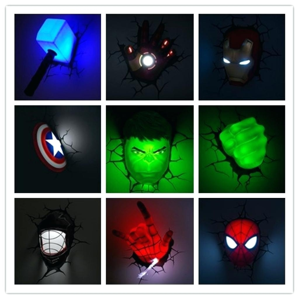 3D Wall Lights – Glenathemovie Inside Fashionable Marvel 3D Wall Art (View 4 of 15)