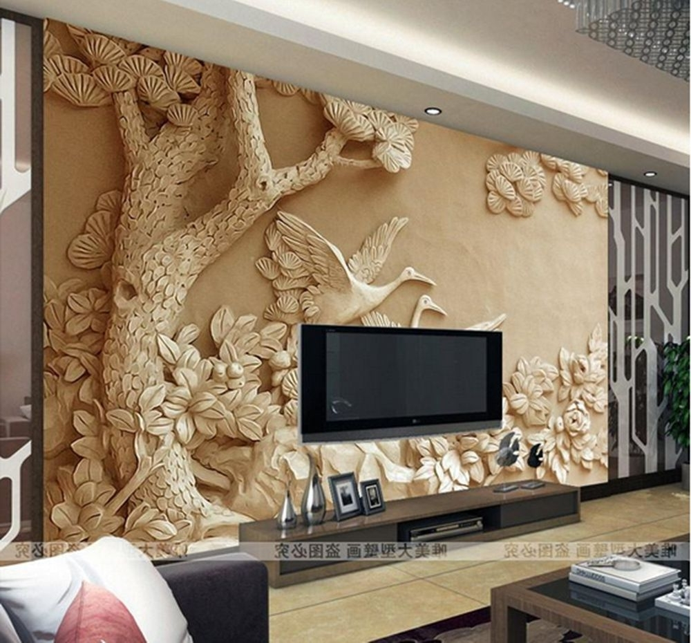 3D Wallpaper Bedroom Mural Roll Modern Luxury Embossed Background For Favorite 3D Wall Art Wallpaper (View 7 of 15)