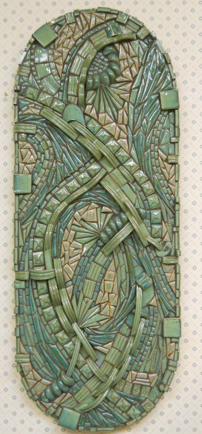 3D Zentangle Abstract Mosaic Wall Art Handmade Ceramic Tile Unique For Favorite Abstract Mosaic Art On Wall (View 1 of 15)