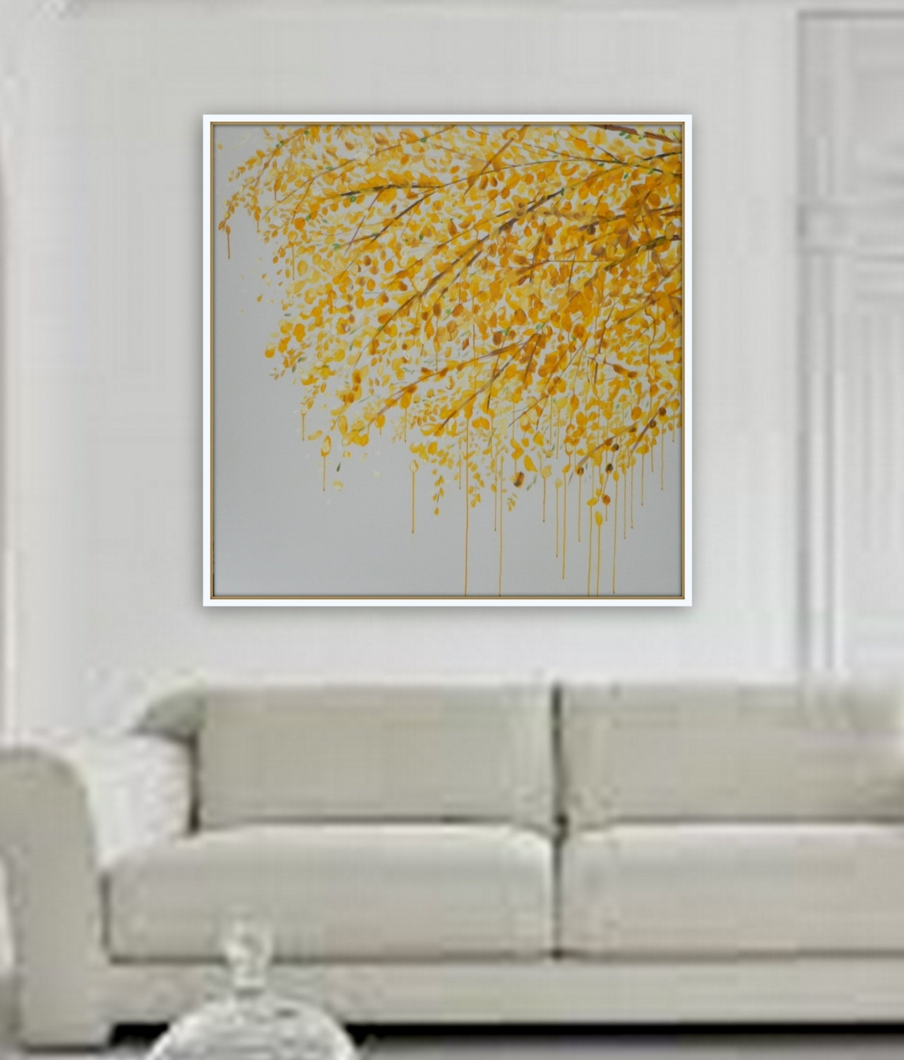 48X48 Canvas Wall Art In Most Current Sample Of Large Yellow Tree Painting Painting Wall Art Tree Flower (View 2 of 15)
