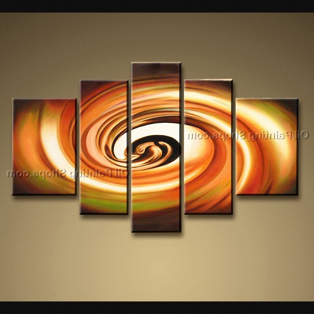 5 Pieces Modern Abstract Painting Wall Art Universe Oil On Canvas With Well Known Modern Abstract Huge Oil Painting Wall Art (View 3 of 15)