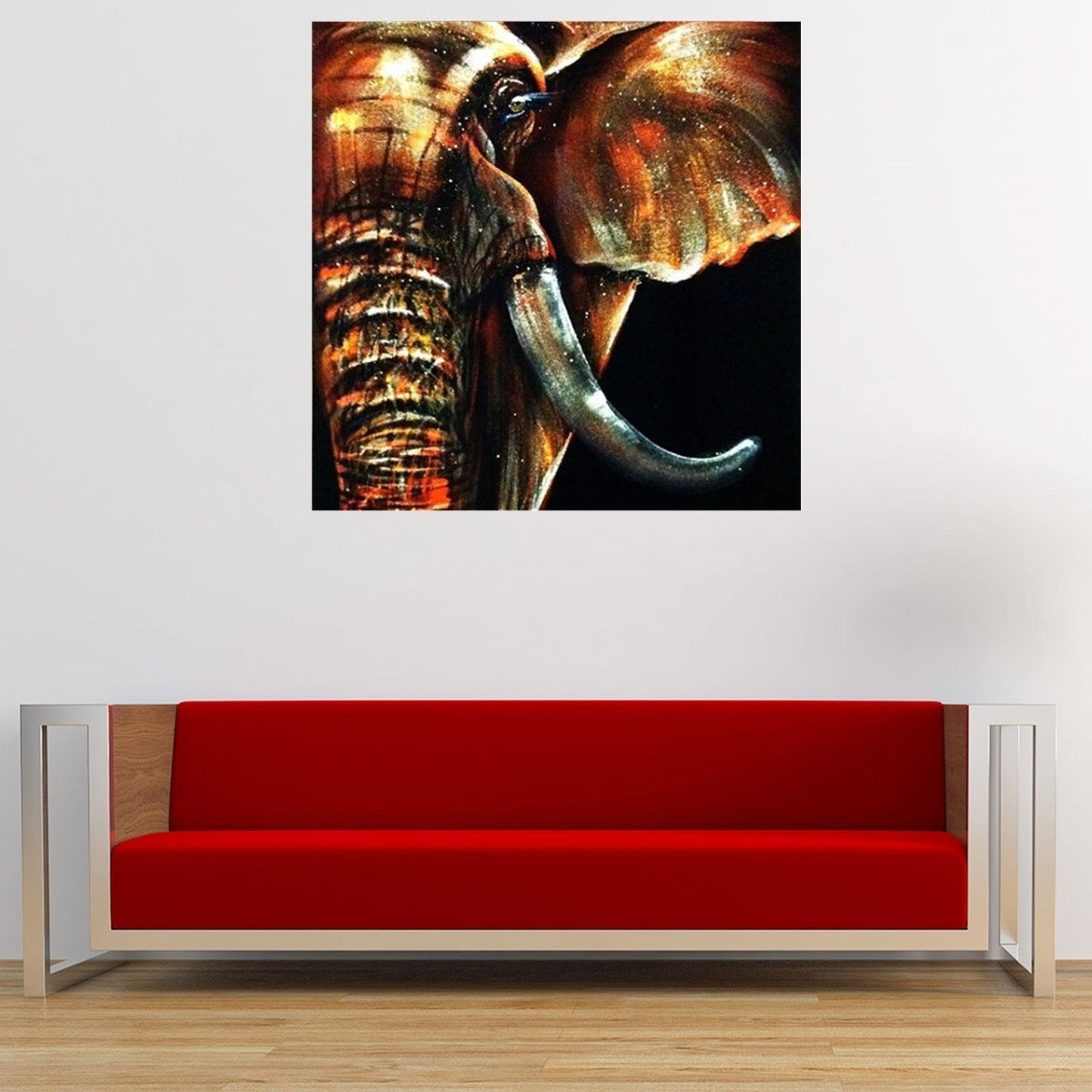 50X50Cm Modern Abstract Huge Elephant Wall Art Decor Oil Painting Inside Fashionable Abstract Elephant Wall Art (Gallery 14 of 15)