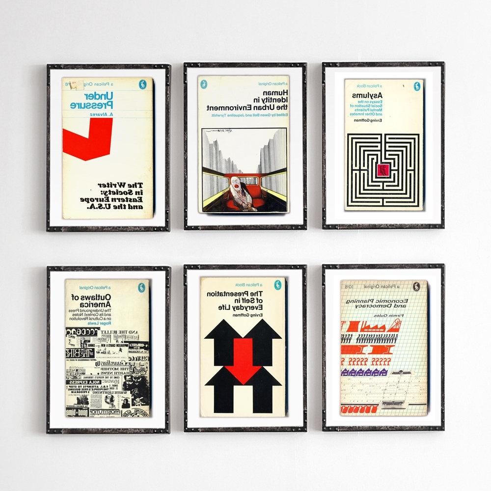 6 Piece Large Wall Art Midcentury Book Covers Penguin Books Retro With Fashionable Penguin Books Wall Art (Gallery 5 of 15)