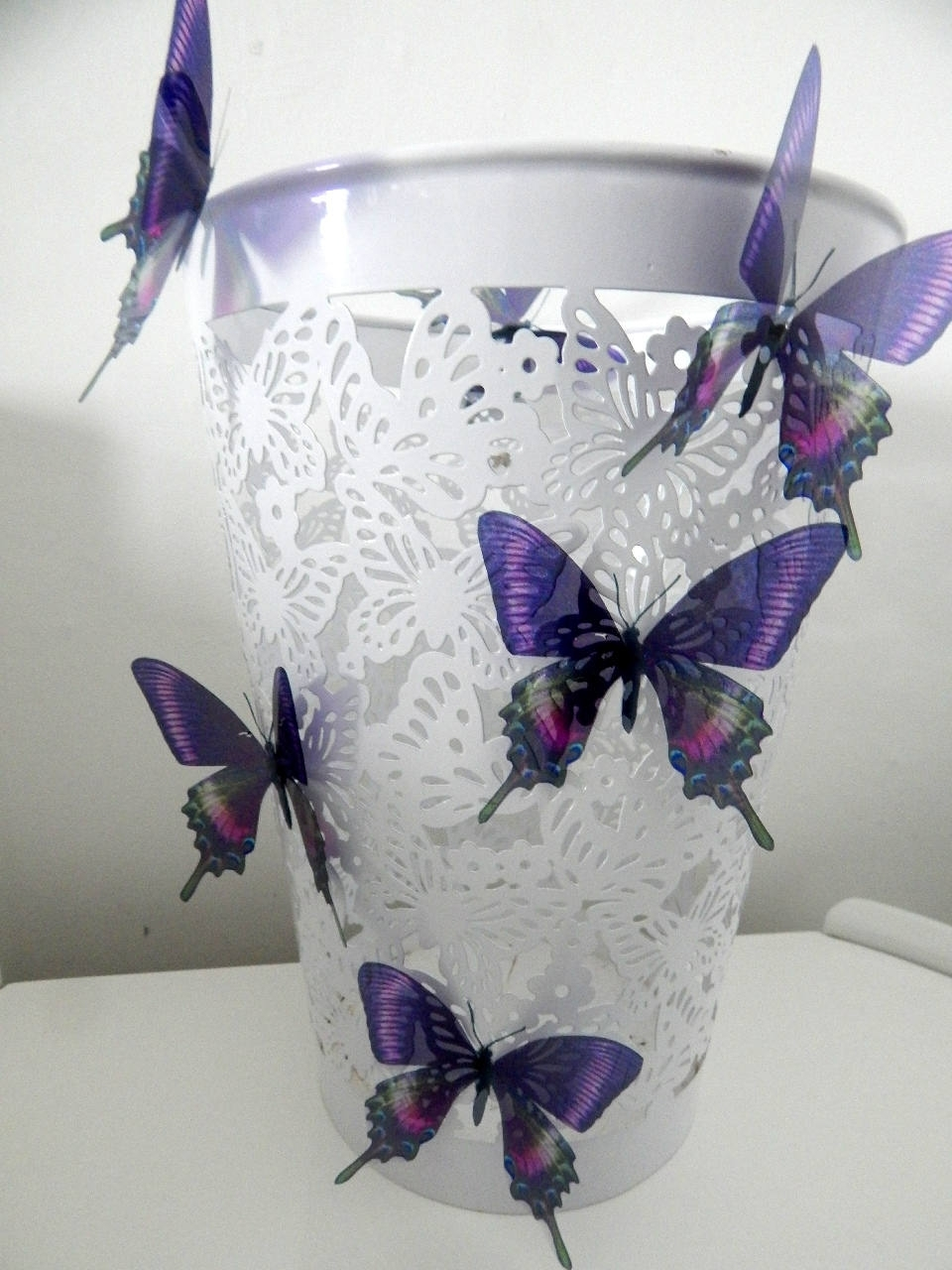 6 Purple Swallow Tail Luxury Amazing Butterflies 3D Butterfly Wall Within Most Recent 3D Removable Butterfly Wall Art Stickers (Gallery 13 of 15)