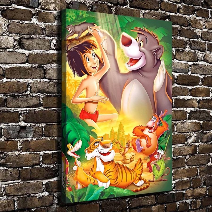 A995 Tthe Jungle Book Children Cartoon Film,hd Canvas Print Home Regarding 2017 Jungle Canvas Wall Art (View 3 of 15)