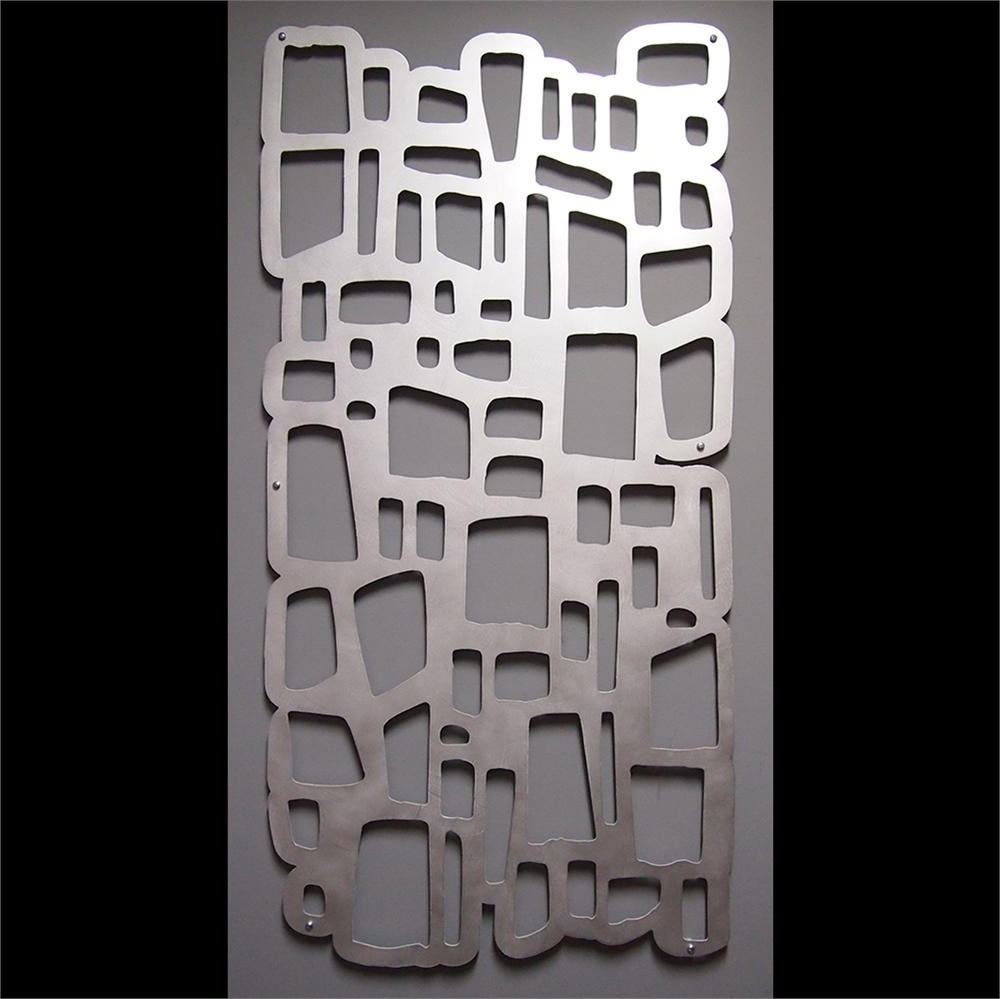 Abstract Aluminium Wall Art Inside Popular Wall Art Design Ideas: Wonderful Aluminum Wall Art Sculpture (View 1 of 15)