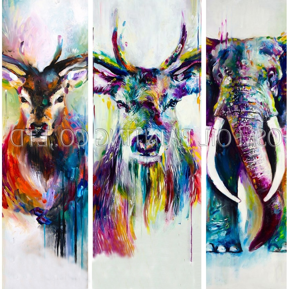 Abstract Animal Wall Art Within Well Liked Cheap Wall Art, Buy Quality Painting Wall Directly From China Wall (View 4 of 15)