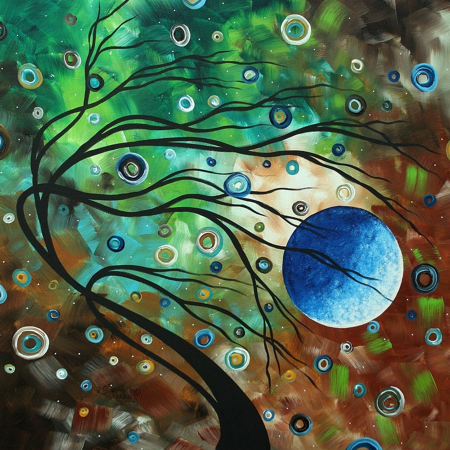 Abstract Art Original Landscape Painting Mint Julepmadart Throughout Recent Megan Duncanson Metal Wall Art (View 1 of 15)