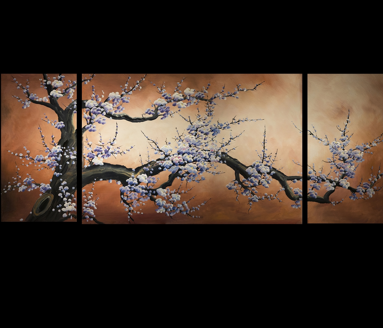 Abstract Art Prints On Canvas Modern Art Cherry Blossom Painting With Regard To Most Recently Released Abstract Cherry Blossom Wall Art (View 1 of 15)