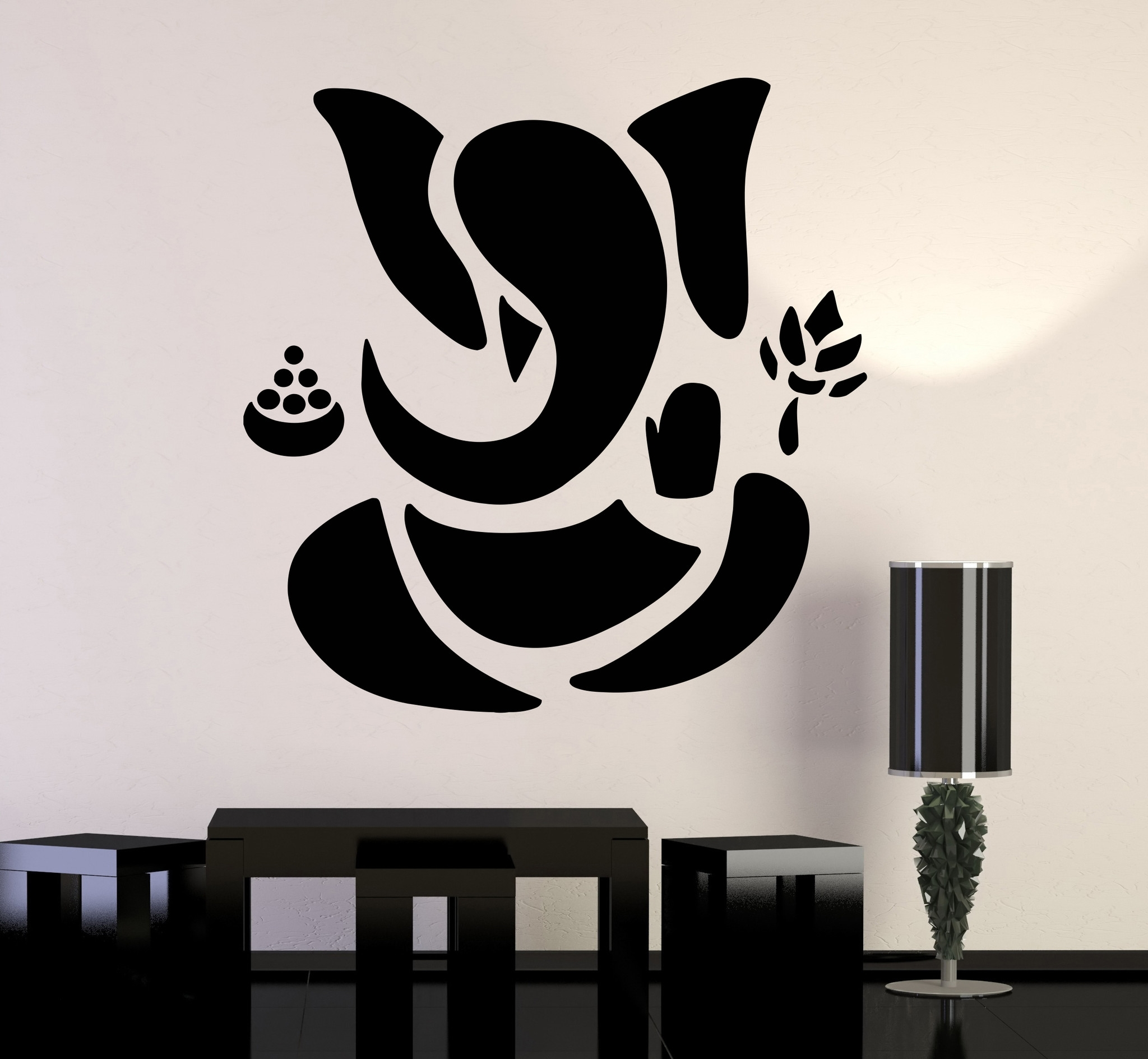 Abstract Art Wall Decal Pertaining To 2017 Vinyl Wall Decal Abstract Ganesha Hindu Hinduism Vedas God (View 4 of 15)