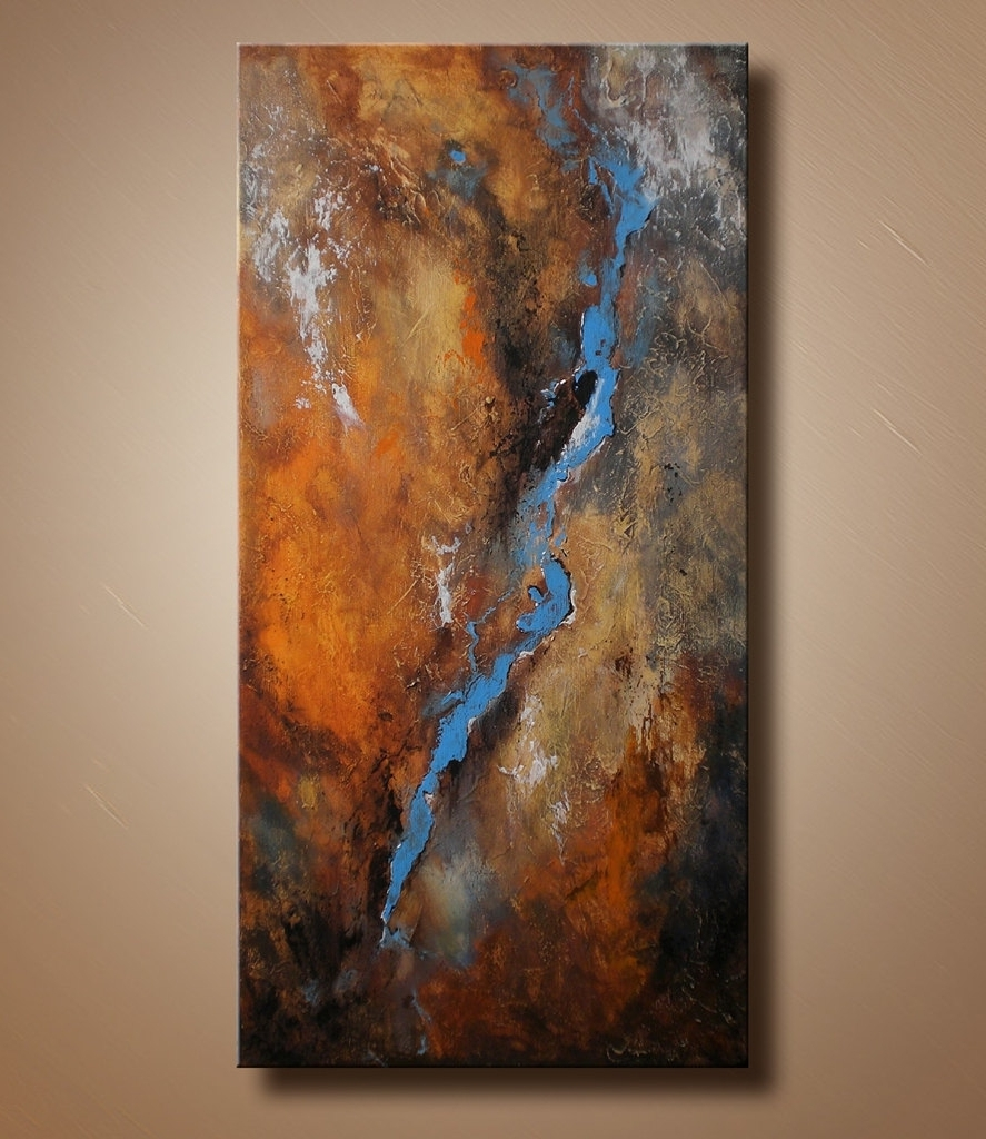 Abstract Art Wall Hangings Inside Well Known Original Textured Abstract Painting On Canvas Contemporary Fine (Gallery 4 of 15)