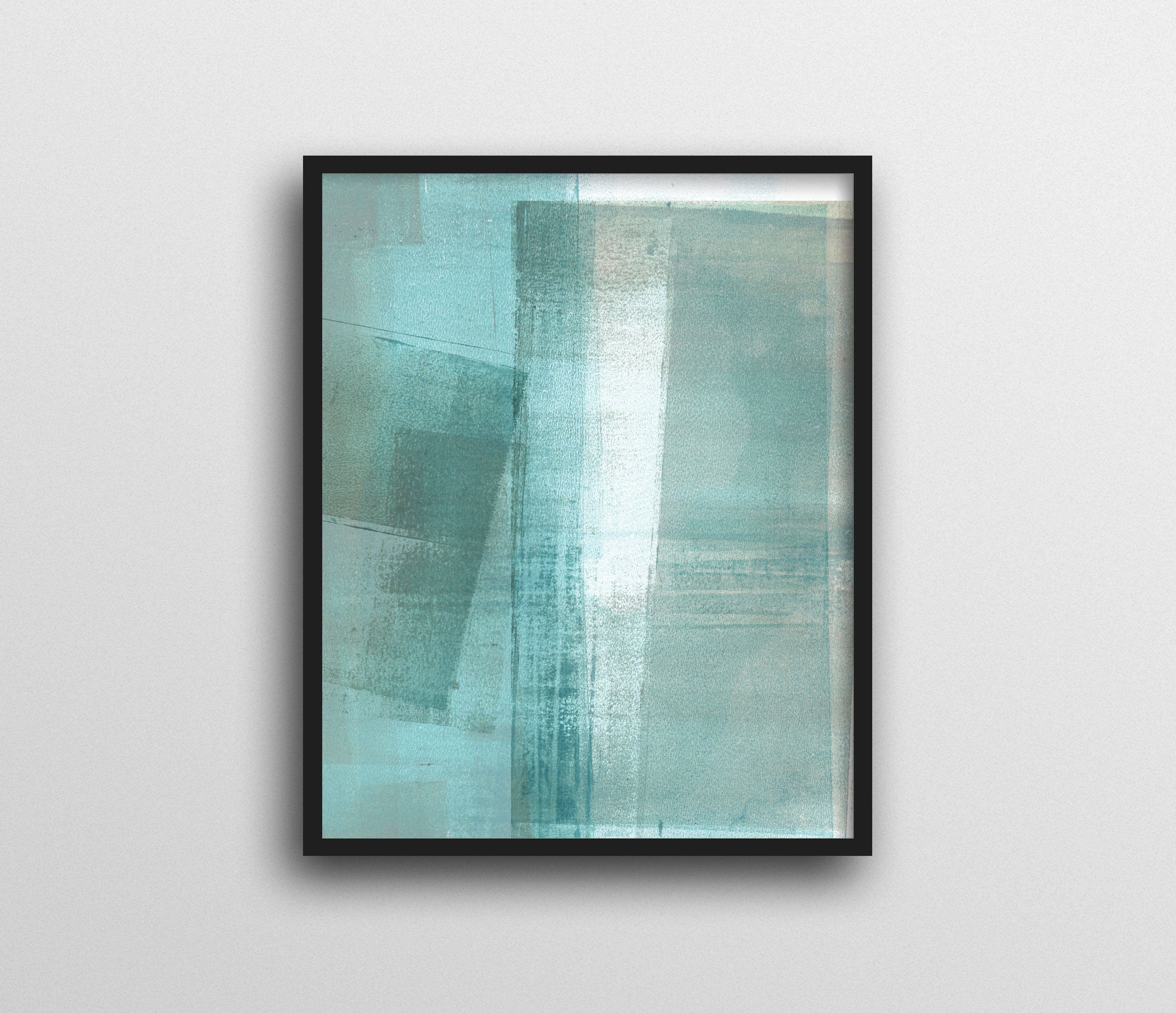 Abstract Beach Wall Art In 2017 Abstract Art, Turquoise Aqua Print, Minimalist Wall Art (View 4 of 15)