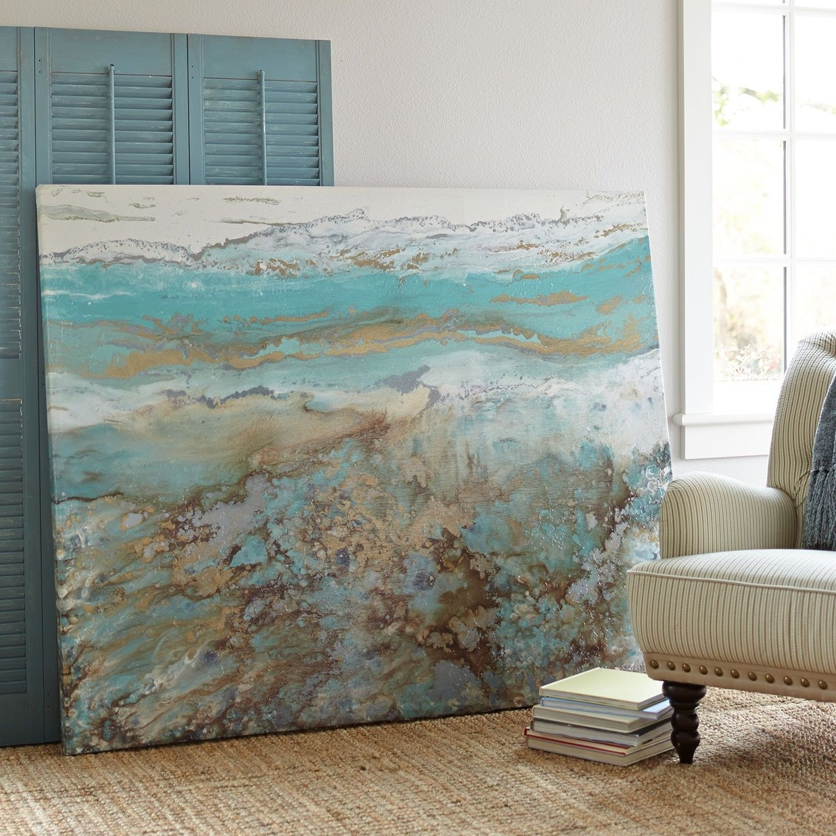 Abstract Beach Wall Art Inside Newest Coastal Air Abstract Art (View 14 of 15)