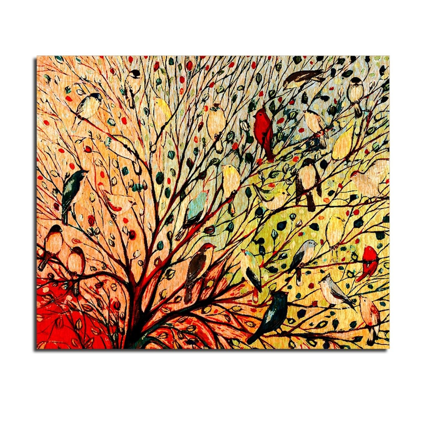 Abstract Bird Wall Art Throughout Trendy Modern Decorative Oil Painting Trees,bird Oil Painting Canvas,bird (View 9 of 15)