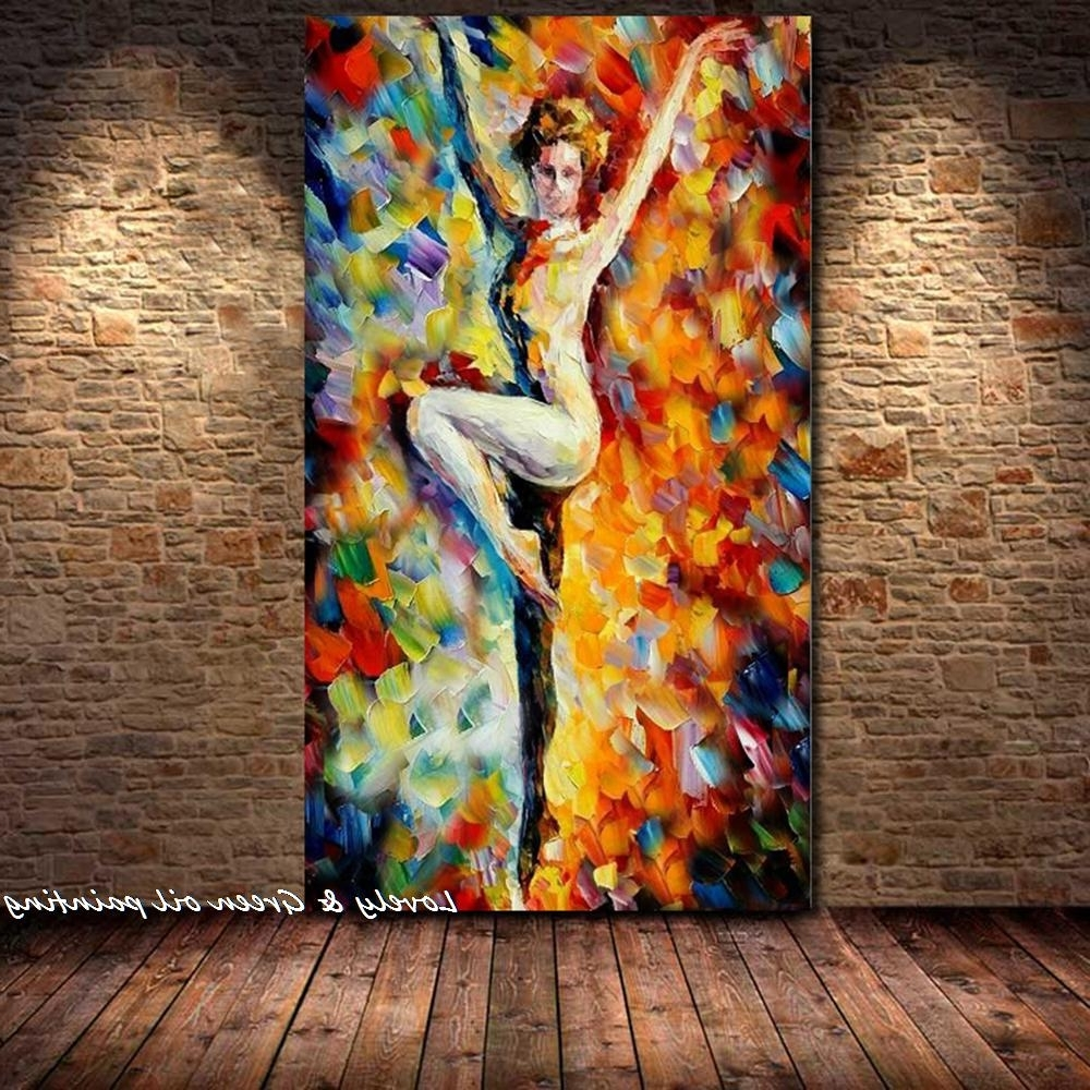 Abstract Body Wall Art Regarding Most Current Handpainted Palette Knife Sexy Nude Woman Oil Painting Naked Body (Gallery 11 of 15)