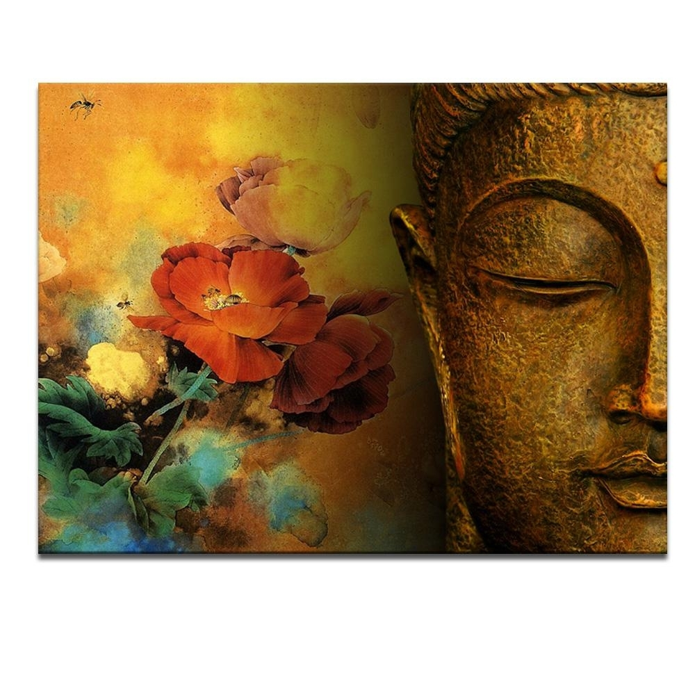 Abstract Buddha Wall Art Intended For Most Recently Released Modern Buddha Painting Printing On Canvas Abstract Portriat Buddha (View 5 of 15)