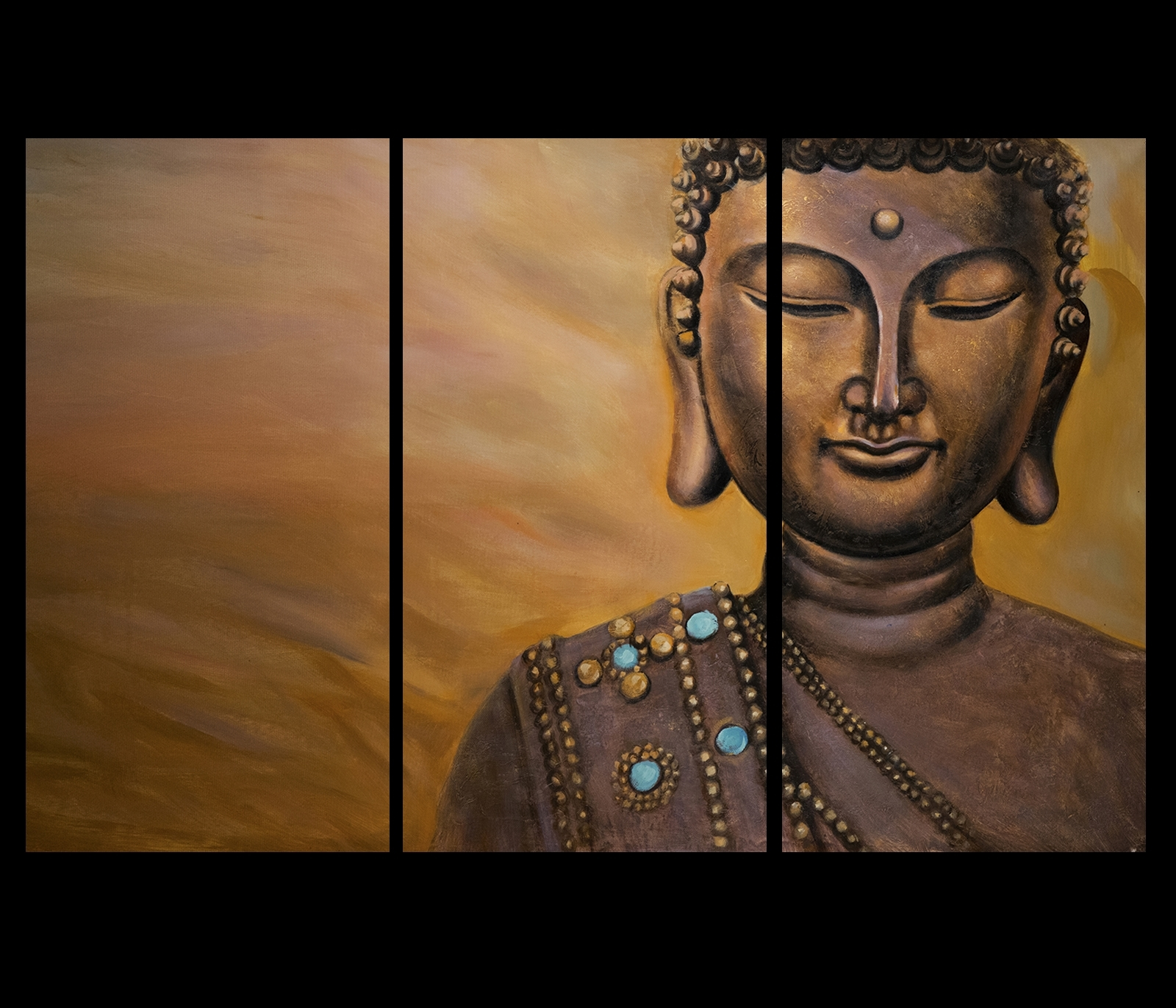 Abstract Buddha Wall Art Within Popular Meditation Art Prints On Canvas Abstract Modern Wall Art Décor Buddha (View 3 of 15)