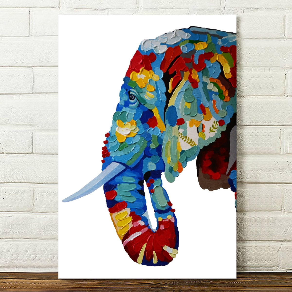 Abstract Canvas Prints Elephant Paintings Posters Home Decor Wall Within Famous Colorful Abstract Wall Art (View 5 of 15)