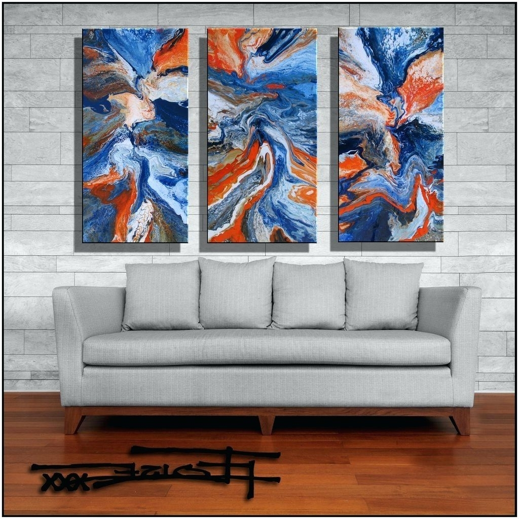 Abstract Canvas Wall Art Australia Intended For Recent Wall Arts ~ Huge Abstract Modern Canvas Wall Art 72 X 48 Inches (View 2 of 15)