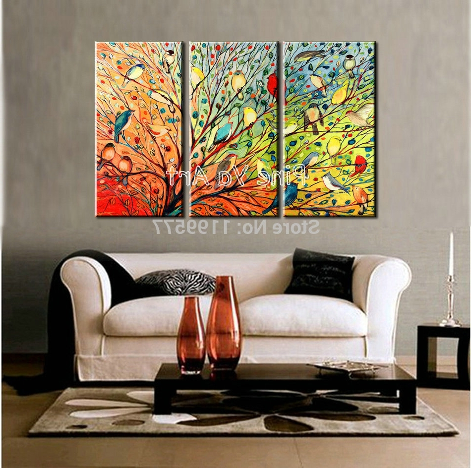 Abstract Canvas Wall Art Iii For Newest Wall Art Designs: Three Piece Wall Art 3 Piece Abstract Modern (Gallery 7 of 15)