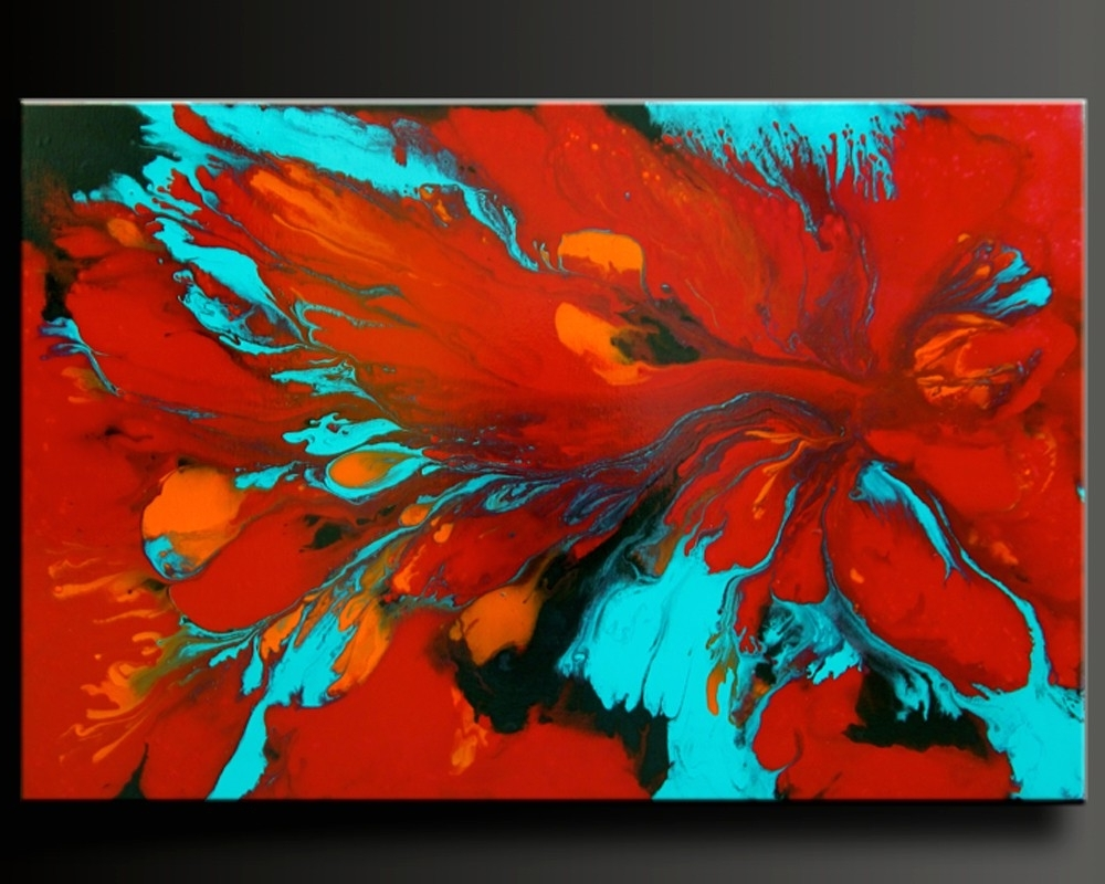 Abstract Contemporary Painting, Fine Wall Art (View 1 of 15)