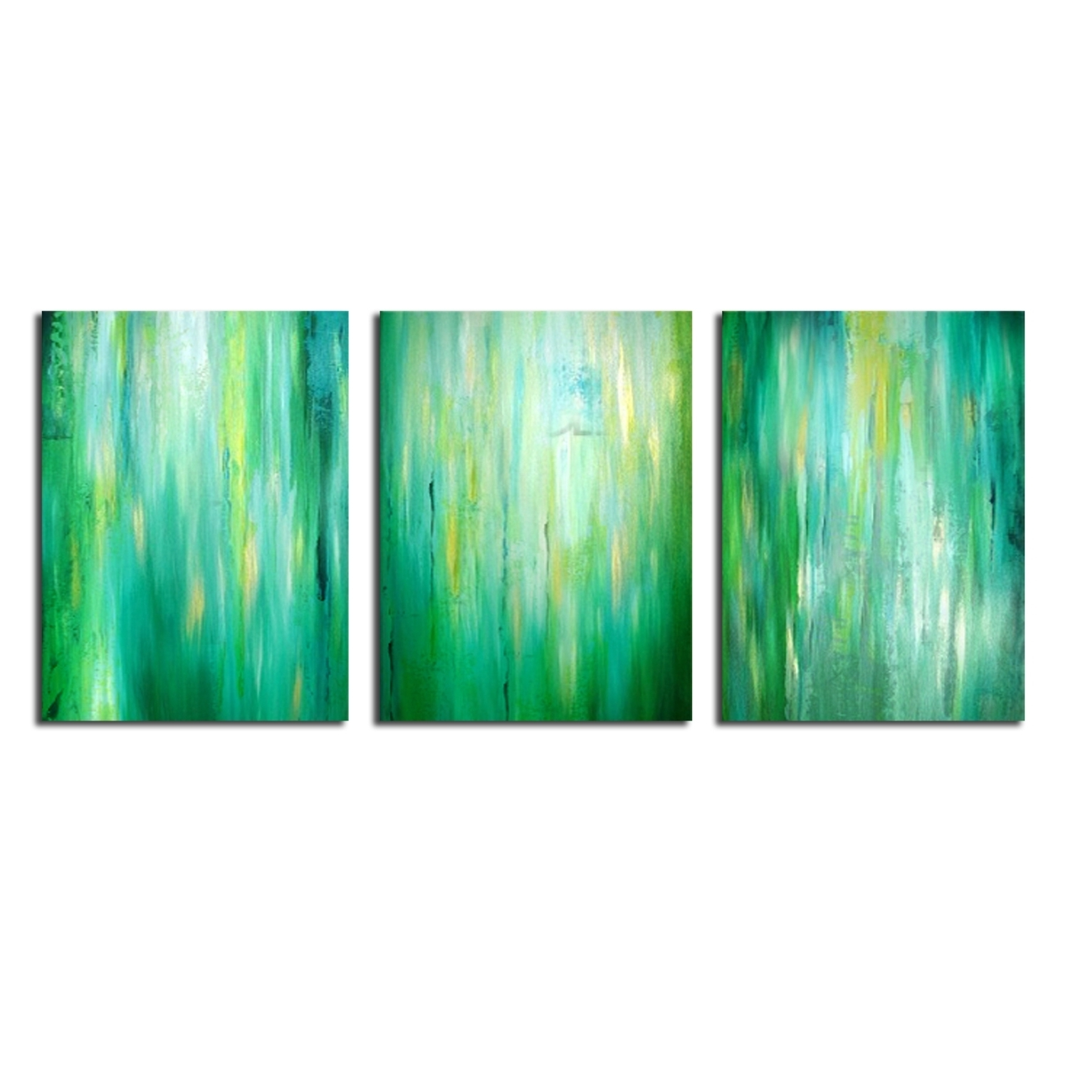 Abstract Decorative Oil Painting,green Canvas Oil Painting,bright Regarding Current Lime Green Abstract Wall Art (View 2 of 15)