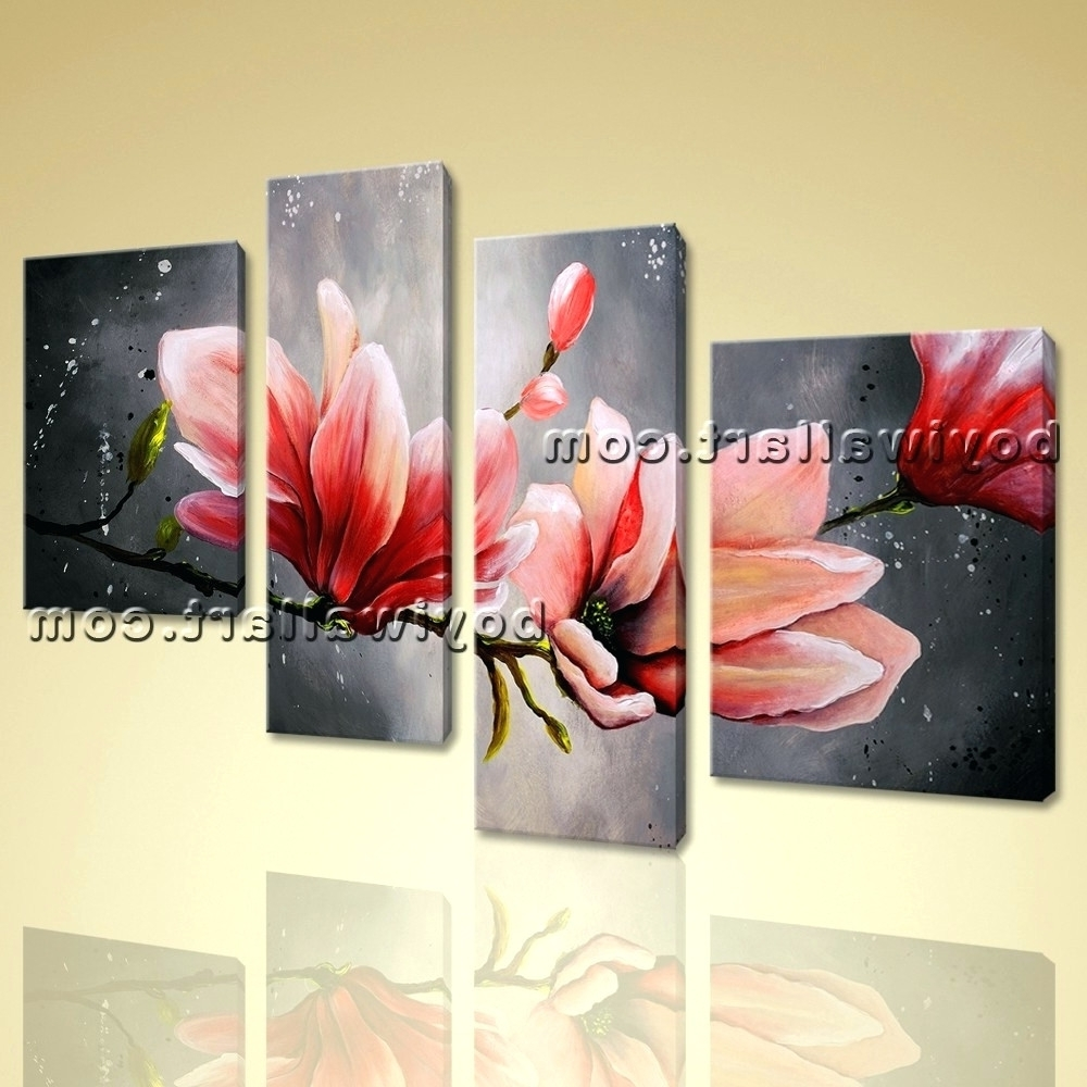 Abstract Flower Metal Wall Art Inside Popular Wall Arts ~ Tulip Wall Art Metal Huge Canvas Wall Art Tulip Flower (View 1 of 15)