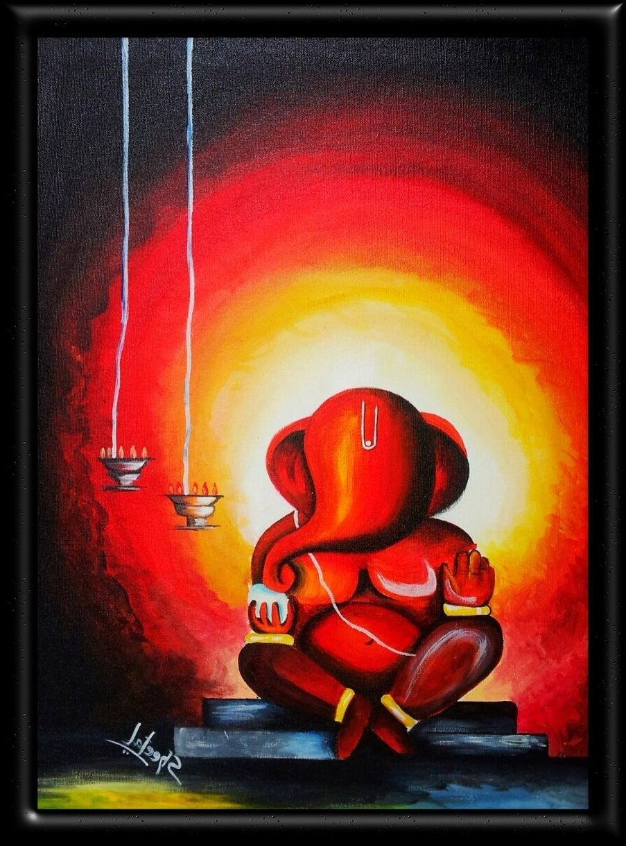Abstract Ganesha Wall Art Regarding Most Current Alfa Img – Showing > Ganpati Abstract Paintings (View 4 of 15)